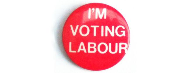 Voting Labour Badge, Simon Speed, Sept 2014
