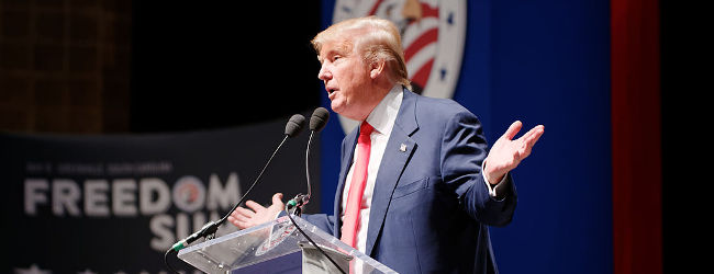 Donald Trump Sr. at Citizens United Freedom Summit in Greenville South Carolina May 2015 by Michael Vadon