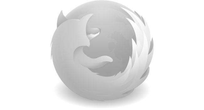 Firefox logo white tint