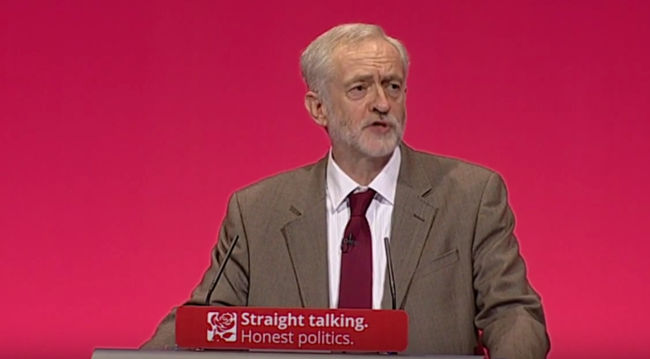 Jeremy Corbyn at Labour Conference, September 2015 by Labour