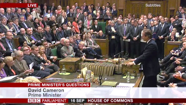 PMQs September 16 2015 via BBC Parliament
