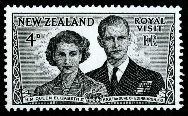 Royal postage stamp 1953 by Archives New Zealand