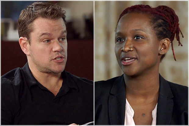 "Image Credit – Matt Damon and Effie Brown on ""Project Greenlight"" by HBO"