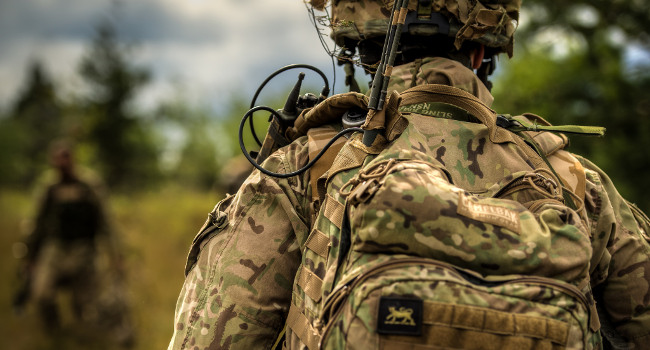 British soldier in Saber Strike exercise, June 2014 by US Army Europe