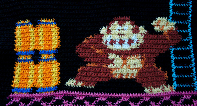 Donkey Kong Blanket, September 2012 by Ana Petree Garcia