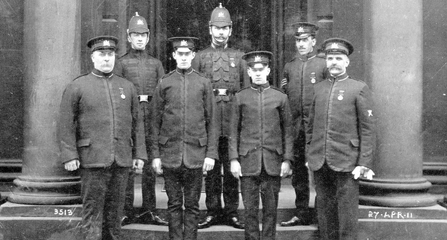 Edinburgh Police, April 1911 by Bruce R