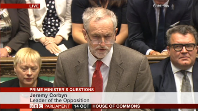Jeremy Corbyn, PMQs, October 2015 by BBC