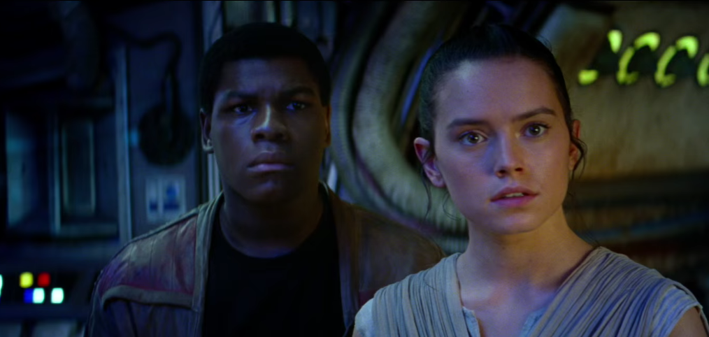 Image Credit – John Boyega and Daisy Ridley as Finn and Rey in Star Wars: The Force Awakens by Lucasfilm