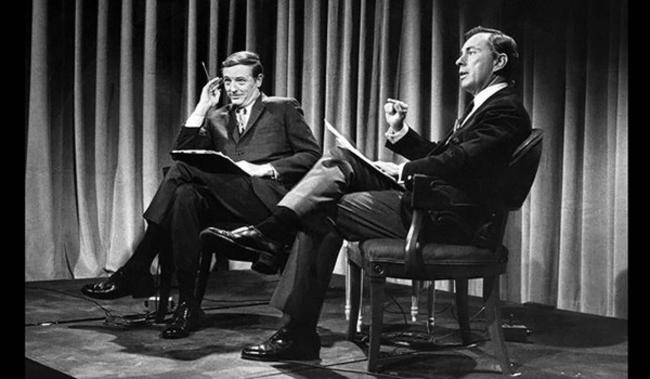 William Buckley debating Gore Vidal, 1968 in public domain