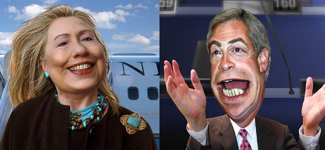 RD E48 Hillary Clinton, Nigel Farage
