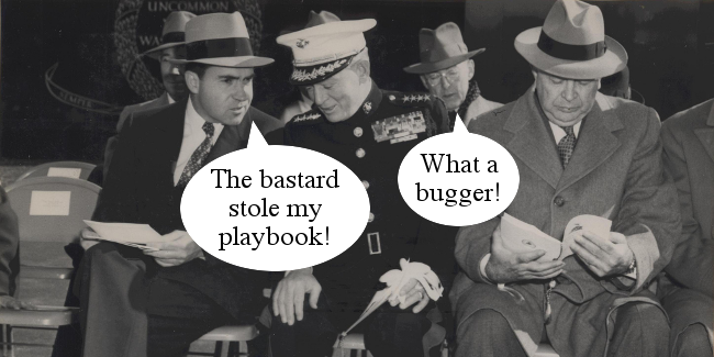 Right Dishonourable – Nixon stolen playbook