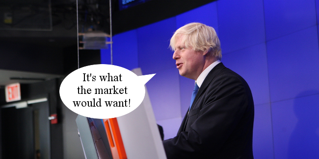 Boris Johnson feed homeless to hungry