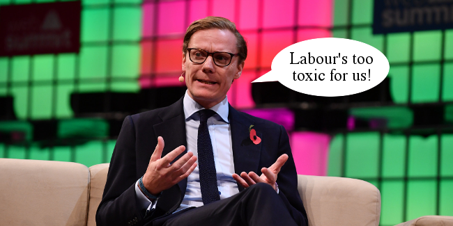 Right Dishonourable 108 Alexander Nix Labour toxic