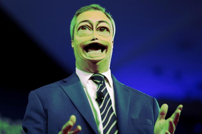 Nigel Farage caricature via Gage Skidmore small